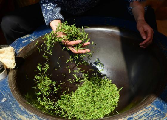 Spring tea ritual