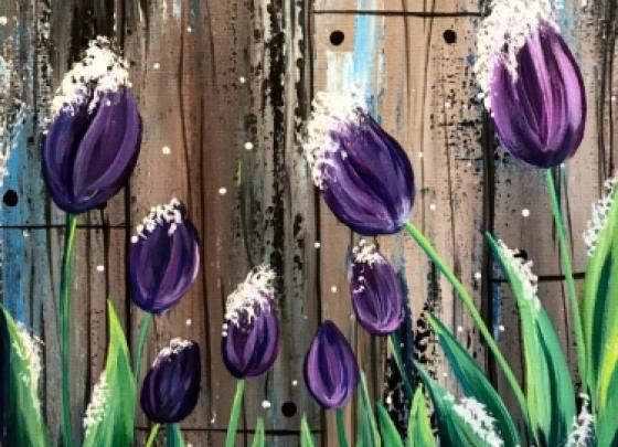 PaintNite - Frosted Tulips