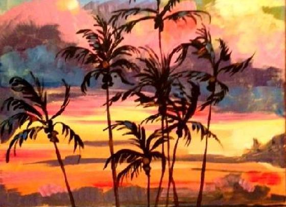 Paint Nite - Island Palms