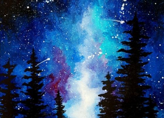 Paint Nite-Milky Way in the Pine