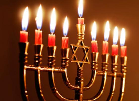 Lighting of Hanukah candles