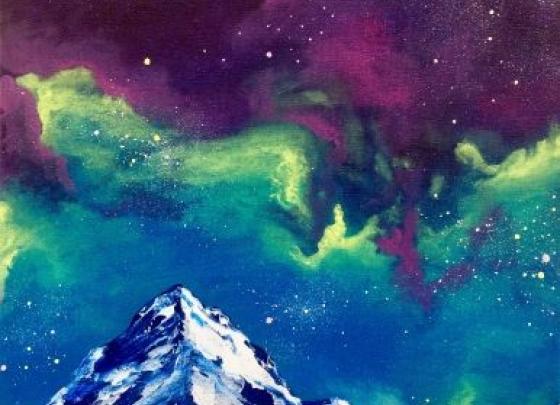 Paint Nite-Galaxy Mountain