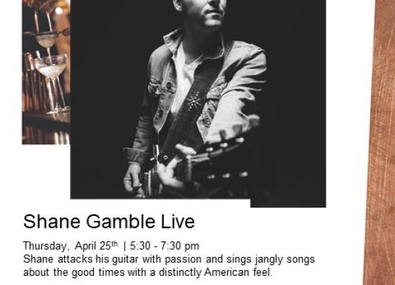 Live Music with Shane Gamble