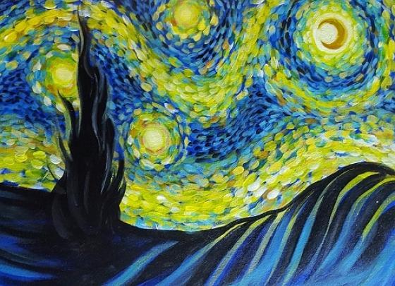 Paint Nite- Starry Starry Night