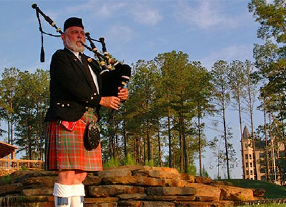 Follow the Bagpiper