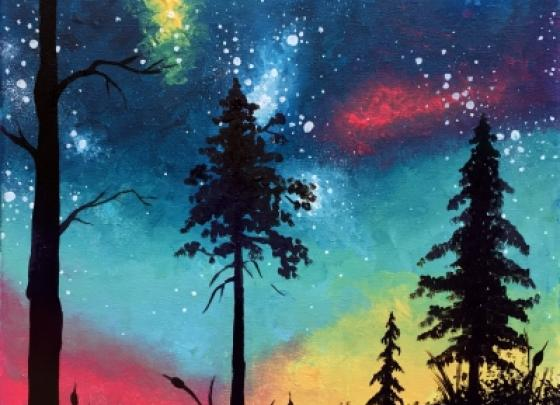 Paint Nite - What A Colorful World