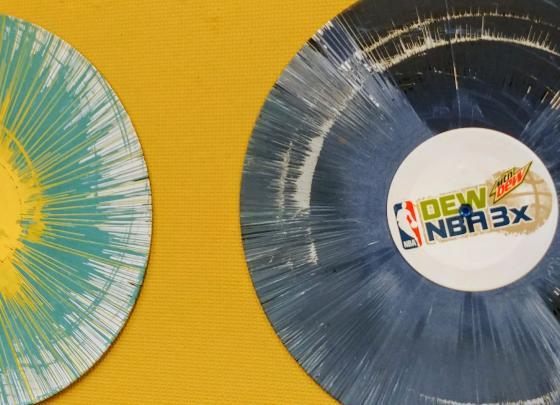 Vinyl Spin Art & DJ Presyce