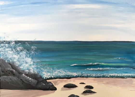 Paint Nite - The Ocean ROCKS!