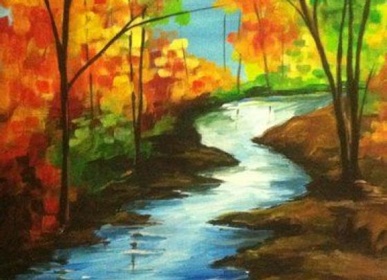 Paint Nite- Autumn Stream II