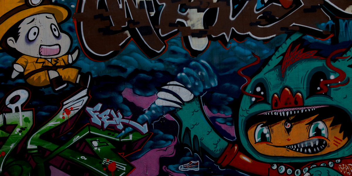 Photo of colorful graffiti in Shanghai