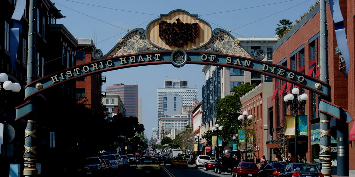 Photo of Gaslamp Quarter in downtown San Diego